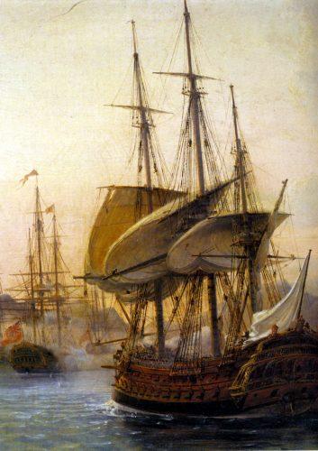 francais contre britanique 12.02.1782 BatailleDesSaintes